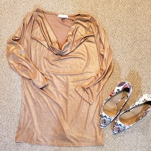 💛gold shimmery blouse